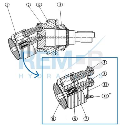 STANDARD SPARE PARTS A6VM140